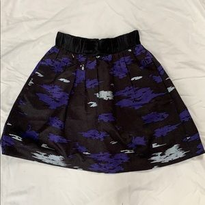 Anthropologie royal blue and silver skirt